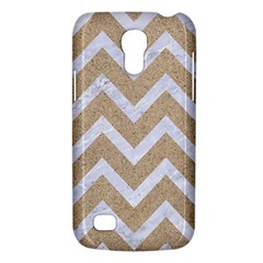 Chevron9 White Marble & Sand Galaxy S4 Mini