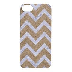 Chevron9 White Marble & Sand Apple Iphone 5s/ Se Hardshell Case