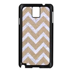 Chevron9 White Marble & Sand Samsung Galaxy Note 3 N9005 Case (black)