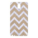 CHEVRON9 WHITE MARBLE & SAND Samsung Galaxy Note 3 N9005 Hardshell Back Case Front