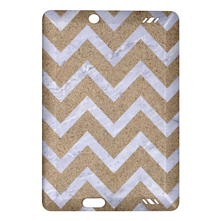 CHEVRON9 WHITE MARBLE & SAND Amazon Kindle Fire HD (2013) Hardshell Case