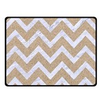 CHEVRON9 WHITE MARBLE & SAND Double Sided Fleece Blanket (Small)  45 x34 Blanket Back