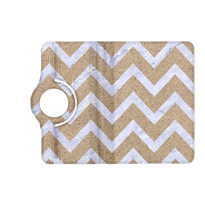 CHEVRON9 WHITE MARBLE & SAND Kindle Fire HD (2013) Flip 360 Case