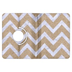 Chevron9 White Marble & Sand Kindle Fire Hdx Flip 360 Case