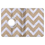 CHEVRON9 WHITE MARBLE & SAND Kindle Fire HDX Flip 360 Case Front