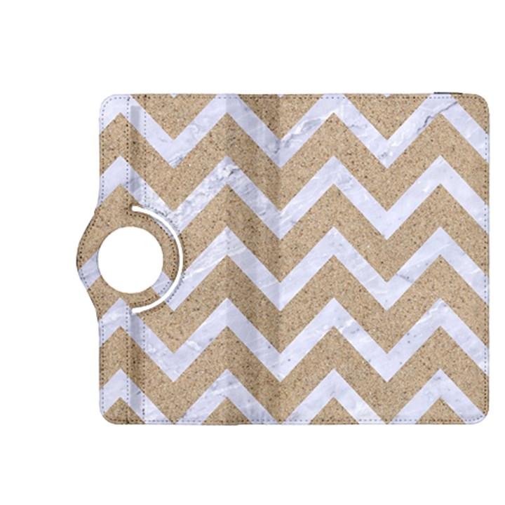 CHEVRON9 WHITE MARBLE & SAND Kindle Fire HDX 8.9  Flip 360 Case
