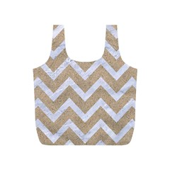 Chevron9 White Marble & Sand Full Print Recycle Bags (s)