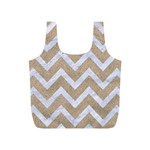 CHEVRON9 WHITE MARBLE & SAND Full Print Recycle Bags (S)  Front