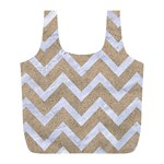 CHEVRON9 WHITE MARBLE & SAND Full Print Recycle Bags (L)  Back