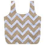 CHEVRON9 WHITE MARBLE & SAND Full Print Recycle Bags (L)  Front