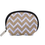 CHEVRON9 WHITE MARBLE & SAND Accessory Pouches (Small)  Front