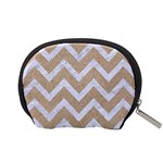 CHEVRON9 WHITE MARBLE & SAND Accessory Pouches (Small)  Back