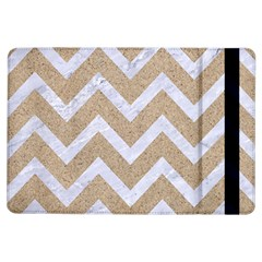 Chevron9 White Marble & Sand Ipad Air Flip