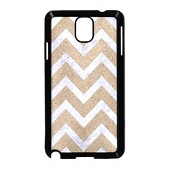 Chevron9 White Marble & Sand Samsung Galaxy Note 3 Neo Hardshell Case (black)