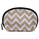 CHEVRON9 WHITE MARBLE & SAND Accessory Pouches (Large)  Front