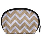 CHEVRON9 WHITE MARBLE & SAND Accessory Pouches (Large)  Back