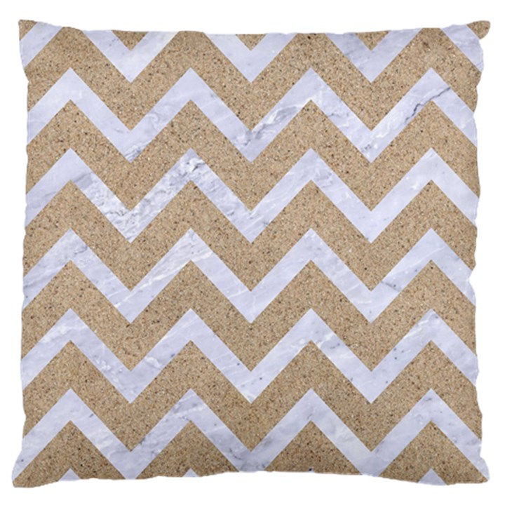 CHEVRON9 WHITE MARBLE & SAND Standard Flano Cushion Case (Two Sides)