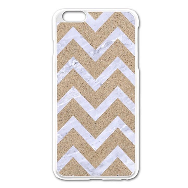 CHEVRON9 WHITE MARBLE & SAND Apple iPhone 6 Plus/6S Plus Enamel White Case