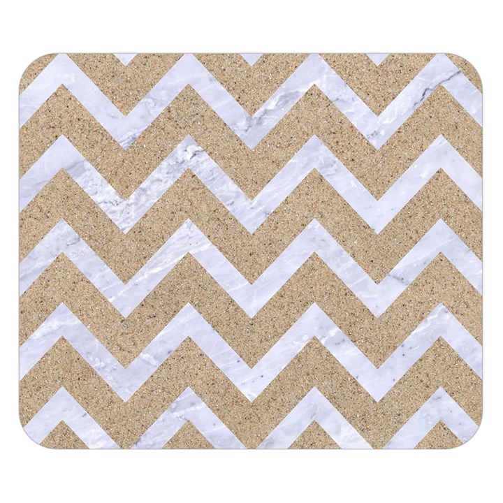 CHEVRON9 WHITE MARBLE & SAND Double Sided Flano Blanket (Small)