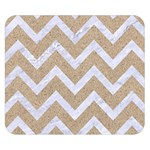 CHEVRON9 WHITE MARBLE & SAND Double Sided Flano Blanket (Small)  50 x40 Blanket Back