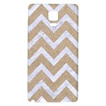 CHEVRON9 WHITE MARBLE & SAND Galaxy Note 4 Back Case Front