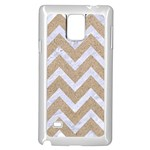 CHEVRON9 WHITE MARBLE & SAND Samsung Galaxy Note 4 Case (White) Front