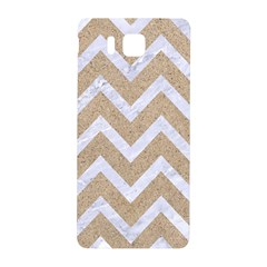 Chevron9 White Marble & Sand Samsung Galaxy Alpha Hardshell Back Case