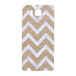 CHEVRON9 WHITE MARBLE & SAND Samsung Galaxy Alpha Hardshell Back Case Front