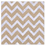 CHEVRON9 WHITE MARBLE & SAND Large Satin Scarf (Square) Front