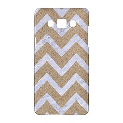 Chevron9 White Marble & Sand Samsung Galaxy A5 Hardshell Case