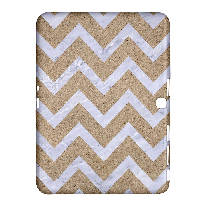 CHEVRON9 WHITE MARBLE & SAND Samsung Galaxy Tab 4 (10.1 ) Hardshell Case