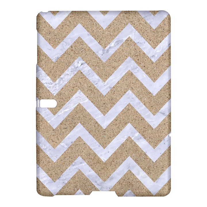 CHEVRON9 WHITE MARBLE & SAND Samsung Galaxy Tab S (10.5 ) Hardshell Case