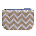 CHEVRON9 WHITE MARBLE & SAND Large Coin Purse Back
