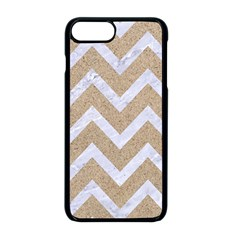 Chevron9 White Marble & Sand Apple Iphone 8 Plus Seamless Case (black)