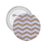 CHEVRON3 WHITE MARBLE & SAND 2.25  Buttons Front