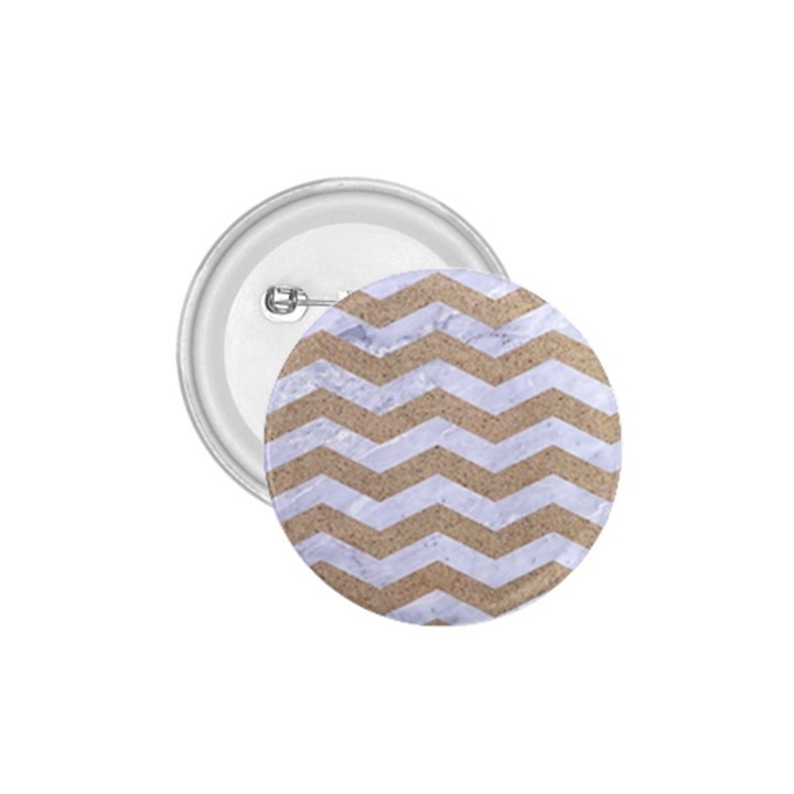 CHEVRON3 WHITE MARBLE & SAND 1.75  Buttons