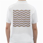 CHEVRON3 WHITE MARBLE & SAND Golf Shirts Back