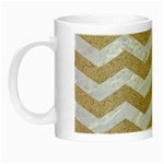 CHEVRON3 WHITE MARBLE & SAND Night Luminous Mugs Left