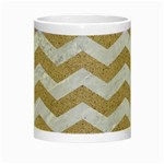 CHEVRON3 WHITE MARBLE & SAND Night Luminous Mugs Center