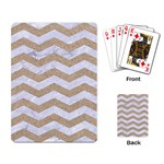 CHEVRON3 WHITE MARBLE & SAND Playing Card Back
