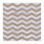 CHEVRON3 WHITE MARBLE & SAND Medium Glasses Cloth Front