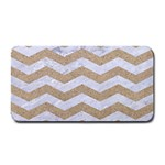 CHEVRON3 WHITE MARBLE & SAND Medium Bar Mats 16 x8.5 Bar Mat - 1
