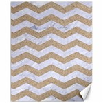 CHEVRON3 WHITE MARBLE & SAND Canvas 11  x 14   14 x11 Canvas - 1