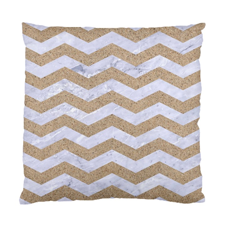 CHEVRON3 WHITE MARBLE & SAND Standard Cushion Case (Two Sides)