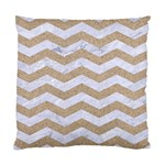CHEVRON3 WHITE MARBLE & SAND Standard Cushion Case (Two Sides) Back