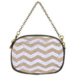 CHEVRON3 WHITE MARBLE & SAND Chain Purses (Two Sides)  Front