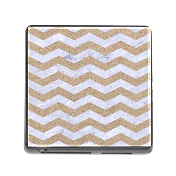 CHEVRON3 WHITE MARBLE & SAND Memory Card Reader (Square)