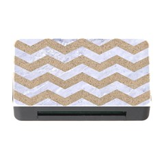 Chevron3 White Marble & Sand Memory Card Reader With Cf