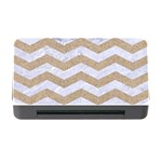 CHEVRON3 WHITE MARBLE & SAND Memory Card Reader with CF Front