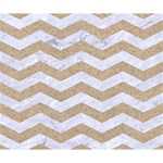 CHEVRON3 WHITE MARBLE & SAND Deluxe Canvas 14  x 11  14  x 11  x 1.5  Stretched Canvas